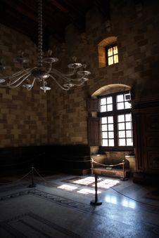 Room In A Medieval Castle In Rhodes Island Royalty Free Stock Photos