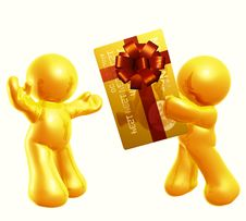 Free Giving Credit Card As Gift Stock Photography - 8377022