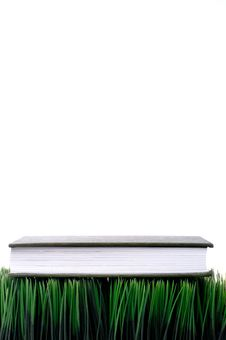 Free Green Hardcover On Grass Stock Photography - 8377642