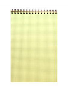 Free Yellow Spiral Bound Notepad Royalty Free Stock Photo - 8377715