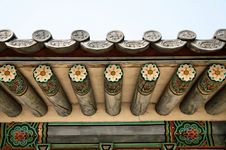 Free Buddhist Temple Roof Detail Stock Photography - 8378062