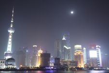 Free The Bund, Pudong, Shanghai Night Royalty Free Stock Image - 8378456