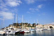French Port In Summer Stock Photos