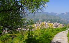 Free Sicilian Village And Flowers, Italy Royalty Free Stock Photography - 8378767