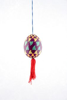 Free Colored Easter Egg On The Thread Stock Photography - 8378842