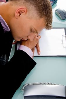 Free Close View Of Sleeping Employee Stock Photography - 8379682