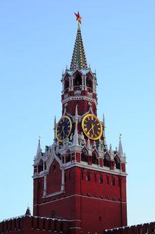 Free Spasskaya Tower Royalty Free Stock Photography - 8379927