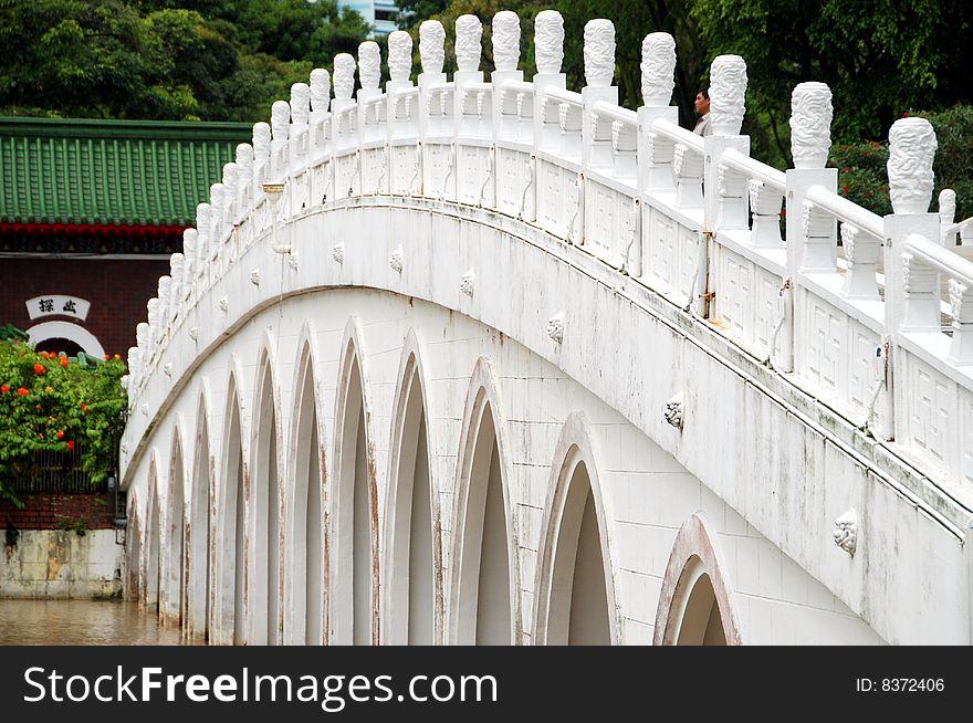 Singapore: Thirteen Span Bridge In Chinese Garden