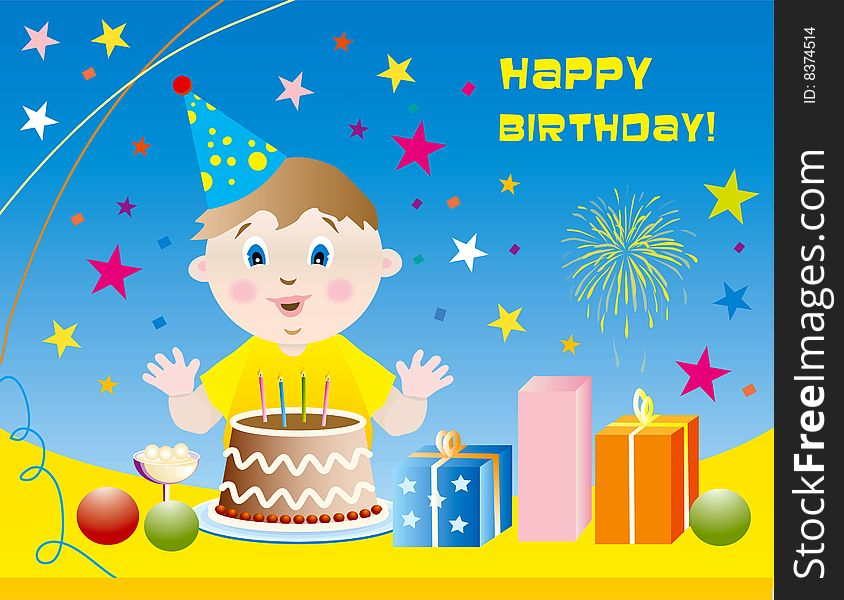 Kid Happy Birthday Background