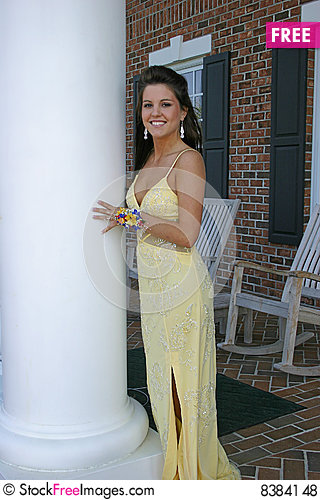 Young lady in evening gown 2 Stock Photo
