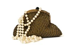Free Theatre Purse And Pearls Royalty Free Stock Images - 8380139