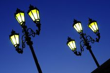 Free Two Street Lights Royalty Free Stock Photography - 8380167