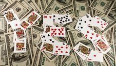Free Playing Cards And Money Stock Photo - 8380170