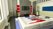 Free Room (view Front) Stock Photos - 8380433
