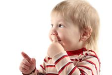 Free Little Boy Pick At His Nose Stock Photography - 8380462