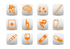 Medicine Icons Royalty Free Stock Photo