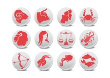 Free Zodiac Buttons Stock Image - 8380771