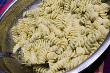 Free Pasta Al Pesto - Basil Sauce Stock Images - 8380944