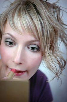 The Girl, Cosmetics Stock Photo