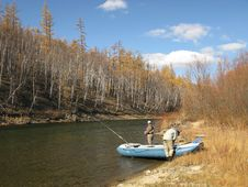 Free Fishing On River Stock Images - 8382144