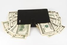 Free Leather Wallet With Money. Royalty Free Stock Images - 8382149