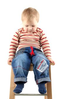 Little Blond Boy Stock Photography