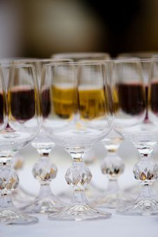 Row Of Wineglasses
