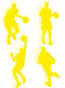 Free Basketball Silhouette Stock Photos - 8383463