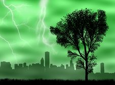 Free City In The Storm Royalty Free Stock Image - 8383466
