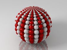 Balls Sphere With Meridians Royalty Free Stock Photo