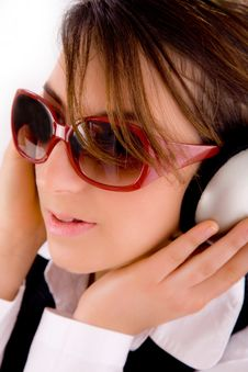 Free Closeup Of Young Professional Listening Music Stock Photos - 8384453
