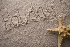 Text On Sand Stock Image