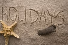 Text On Sand Royalty Free Stock Image
