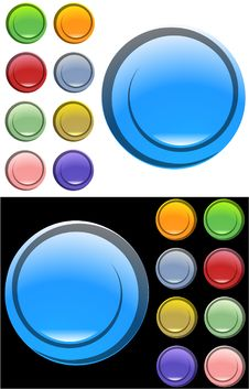 Free Color Buttons Royalty Free Stock Images - 8384809