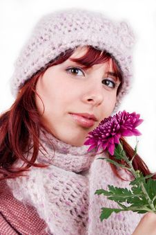 Free Woman With Flower Stock Images - 8384924