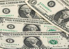 Free One Dollar Bills Royalty Free Stock Photos - 8385008