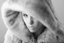 Free Woman In Fur Stock Image - 8385041