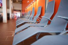 Free Row Of Grey Chairs Royalty Free Stock Images - 8385429