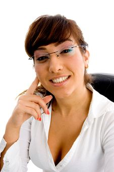 Free Front View Of  Businesswoman Looking At Camera Royalty Free Stock Photos - 8385658