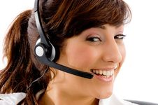 Free Portrait Of Cheerful Female Customer Care Royalty Free Stock Photo - 8386075