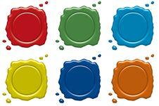 Free Wax Seals Royalty Free Stock Image - 8386206