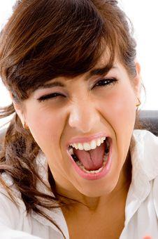 Free Portrait Of Yelling Female Royalty Free Stock Photo - 8386295