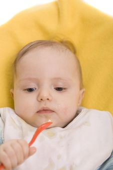 Free Eating Baby Stock Photography - 8386632