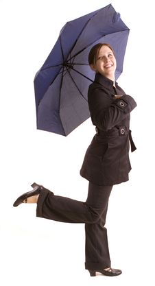 Free Woman With Umbrella Royalty Free Stock Photo - 8386795