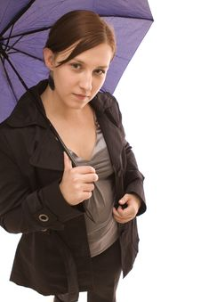 Free Woman With Umbrella Royalty Free Stock Images - 8386809