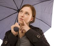 Free Woman With Umbrella Stock Image - 8386811