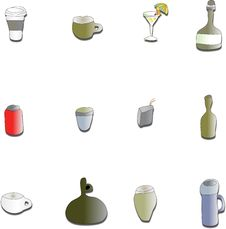 Free Drink Bottle Assortment Stock Photos - 8386953