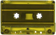 Free Yellow Cassette Tape Royalty Free Stock Photography - 8387157