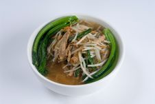 Chicken And Bean Sprout Soup Stock Photography