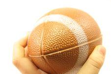 Child Throwing Football Stock Photo